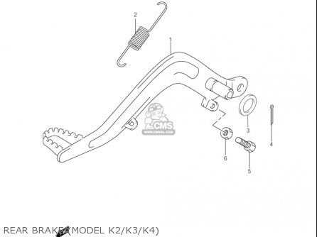 Suzuki Rm85  l usa Rear Brake model K2 k3 k4