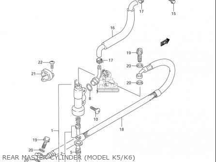 Suzuki Rm85  l usa Rear Master Cylinder model K5 k6