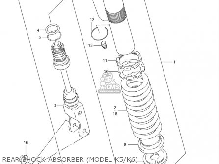 Suzuki Rm85  l usa Rear Shock Absorber model K5 k6
