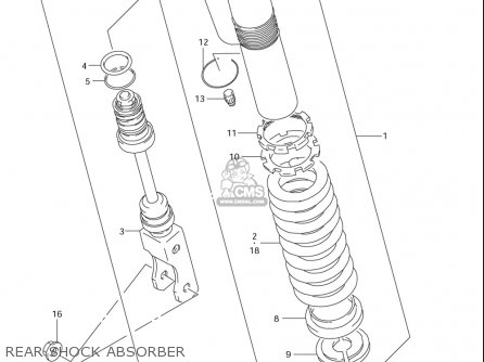 Suzuki Rm85  l usa Rear Shock Absorber