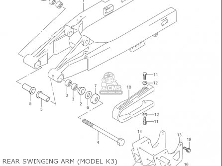Suzuki Rm85  l usa Rear Swinging Arm model K3