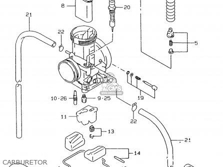 suzuki rmx250 1998  w  general  e01  parts list