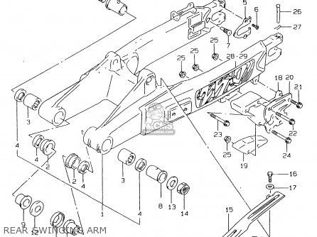 suzuki rmx250 1999  x  parts list partsmanual partsfiche