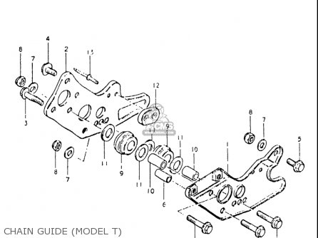 Suzuki Rs175 1980-1982 usa Chain Guide model T