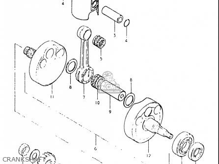 Suzuki Rs175 1980-1982 usa Crankshaft