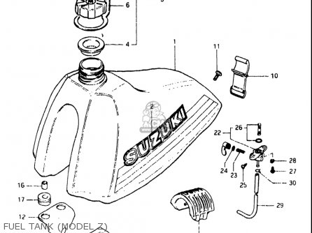 Suzuki Rs175 1980-1982 usa Fuel Tank model Z