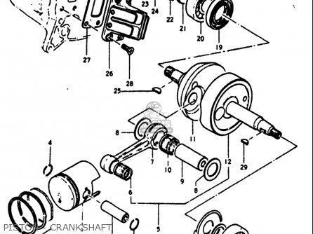 suzuki rv90 1972  usa  parts list partsmanual partsfiche