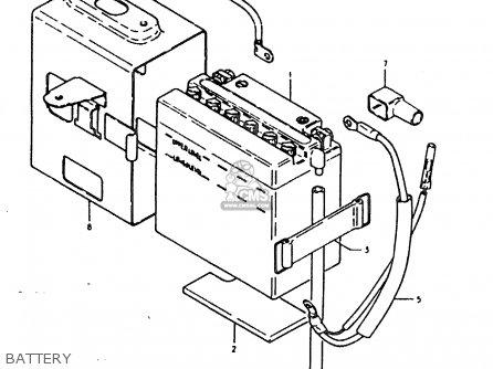 Suzuki Sb200 1979 n e02 Battery