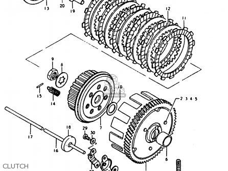 Suzuki Sb200 1979 n e02 Clutch