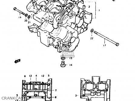 Suzuki Sb200 1979 n e02 Crankcase