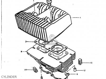 Suzuki Sb200 1979 n e02 Cylinder