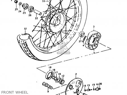 Suzuki Sb200 1979 n e02 Front Wheel