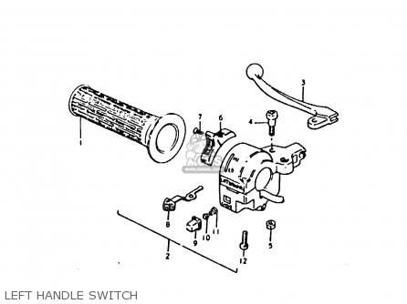 Suzuki Sb200 1979 n e02 Left Handle Switch