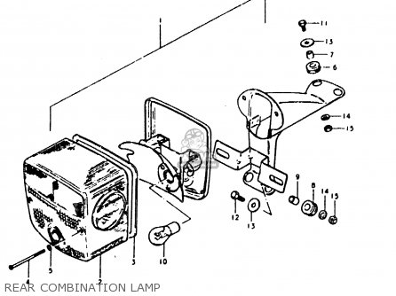 Suzuki Sb200 1979 n e02 Rear Combination Lamp