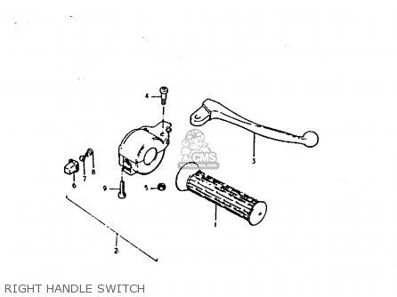 Suzuki Sb200 1979 n e02 Right Handle Switch
