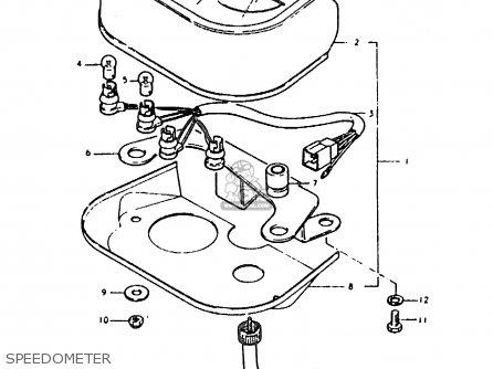Suzuki Sb200 1979 n e02 Speedometer