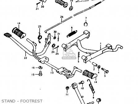 Suzuki Sb200 1979 n e02 Stand - Footrest