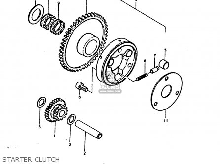 Suzuki Sb200 1979 n e02 Starter Clutch