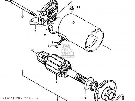 Suzuki Sb200 1979 n e02 Starting Motor