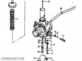 Suzuki Sp100 1983 d Usa e03 Carburetor