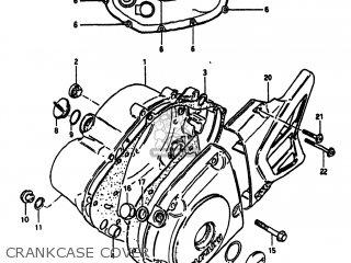 Suzuki Sp100 1983 d Usa e03 Crankcase Cover