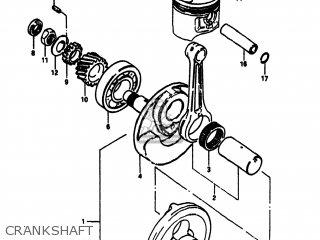 Suzuki Sp100 1983 d Usa e03 Crankshaft