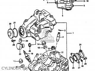 Suzuki Sp100 1983 d Usa e03 Cylinder Head