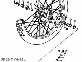 Suzuki Sp100 1983 d Usa e03 Front Wheel