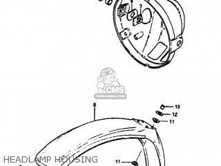 Suzuki Sp100 1983 d Usa e03 Headlamp Housing