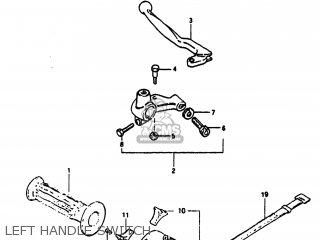 Suzuki Sp100 1983 d Usa e03 Left Handle Switch