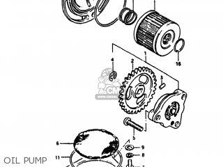 Suzuki Sp100 1983 d Usa e03 Oil Pump