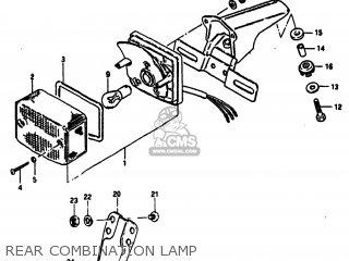 Suzuki Sp100 1983 d Usa e03 Rear Combination Lamp