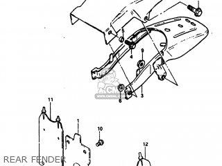 Suzuki Sp100 1983 d Usa e03 Rear Fender