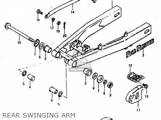 Suzuki Sp100 1983 d Usa e03 Rear Swinging Arm