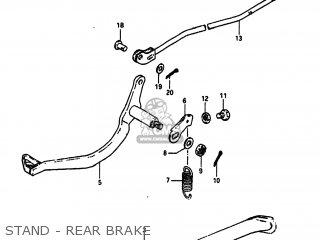Suzuki Sp100 1983 d Usa e03 Stand - Rear Brake