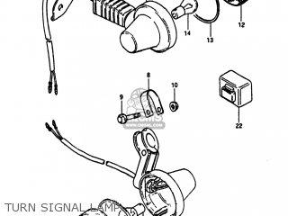 Suzuki Sp100 1983 d Usa e03 Turn Signal Lamp