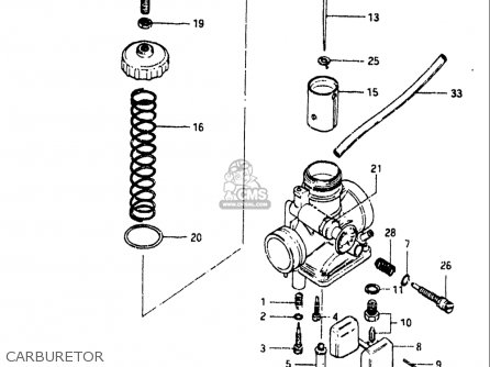 Suzuki Sp125 1982-1983 usa Carburetor