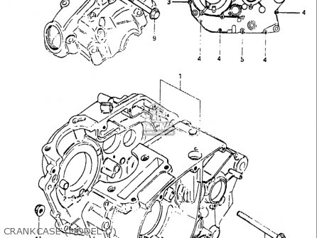 Suzuki Sp125 1982-1983 usa Crankcase model D