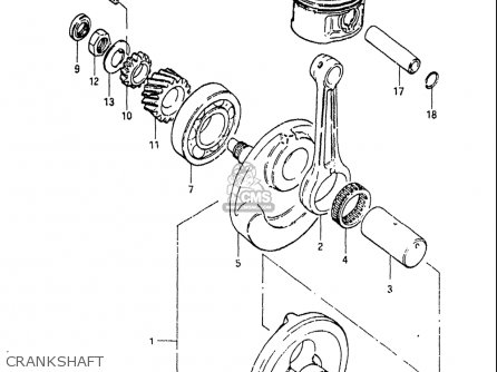 Suzuki Sp125 1982-1983 usa Crankshaft