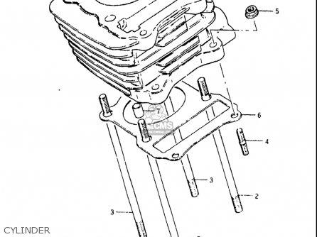 Suzuki Sp125 1982-1983 usa Cylinder