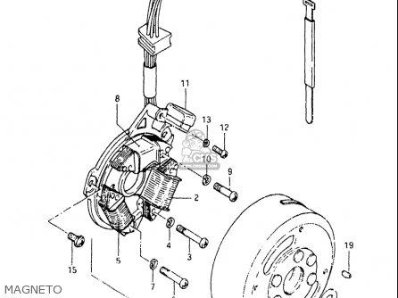 Suzuki Sp125 1982-1983 usa Magneto