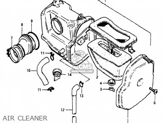 Suzuki Sp125 1982 z Usa e03 Air Cleaner
