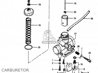 Suzuki Sp125 1982 z Usa e03 Carburetor