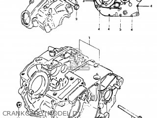 Suzuki Sp125 1982 z Usa e03 Crankcase model D