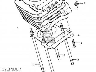 Suzuki Sp125 1982 z Usa e03 Cylinder