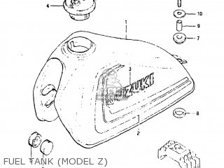 Suzuki Sp125 1982 z Usa e03 Fuel Tank model Z