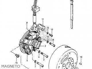 Suzuki Sp125 1982 z Usa e03 Magneto
