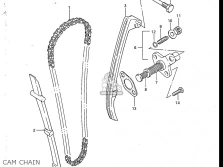 Suzuki Sp200 1986-1988 usa Cam Chain