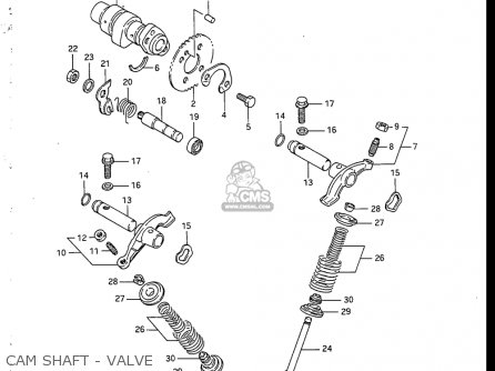 Suzuki Sp200 1986-1988 usa Cam Shaft - Valve
