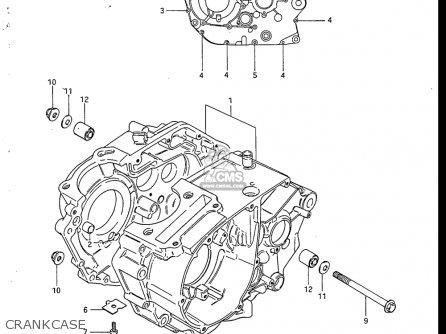 Suzuki Sp200 1986-1988 usa Crankcase
